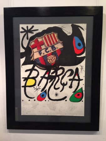 Lithographie Miró - Aniversario F.c. Barcelona