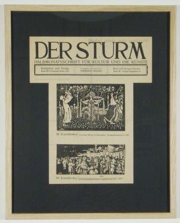 Holzschnitt Kandinsky - Ankunft der Kaufleute (1903), Aus dem Album Xylographies (1907)