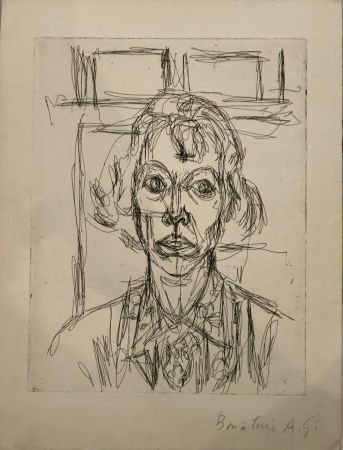 Radierung Giacometti - Annette III
