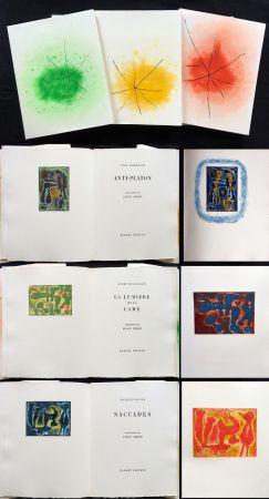 Illustriertes Buch Miró - ANTI-PLATON - LA LUMIÈRE DE LA LAME - SACCADES (Yves Bonnefoy, André Du Bouchet, Jacques Dupin (1962)