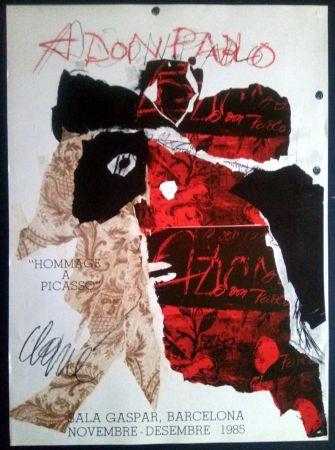 Plakat Clavé - Antoni Clavé - A Don Pablo - Sala Gaspar 1985