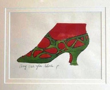 Lithographie Warhol - Anyone for Shoes - A La Recherche Du Shoe Perdu