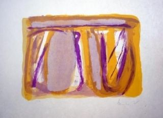 Lithographie Van Velde - Apaisement