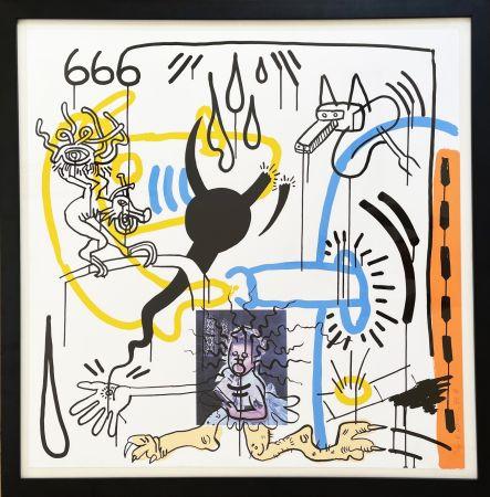 Siebdruck Haring - Apocalypse 8 from the Apocalypse series 1988