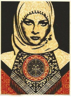 Siebdruck Fairey - Arab woman