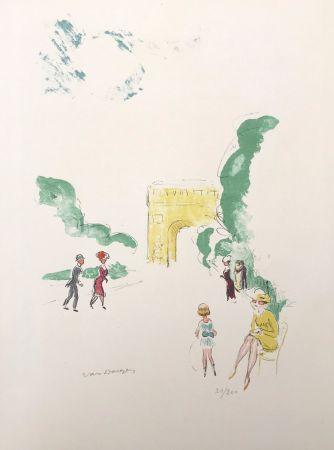 Lithographie Van Dongen - Arc de Triomphe