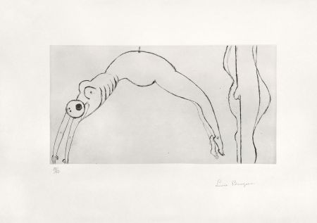 Stich Bourgeois - Arched figure