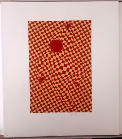 Lithographie Vasarely - Arlequin