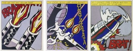 Lithographie Lichtenstein -  As I Opened Fire