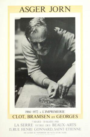 Plakat Alechinsky - AsgerJorn à l'imprimerie Clot, Bramsen & Georges