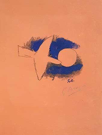 Lithographie Braque - Astre Et Oiseau