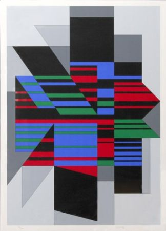 Siebdruck Vasarely - Attila