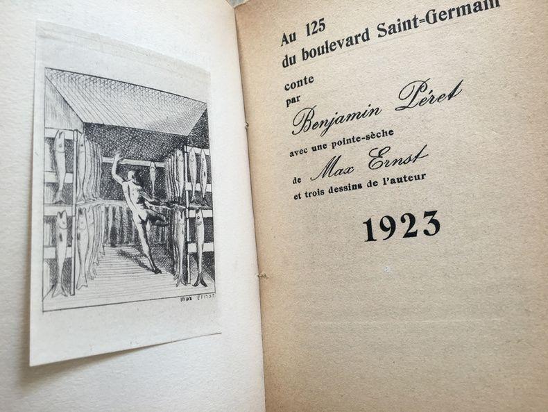 Illustriertes Buch Ernst - AU 125 DU BOULEVARD SAINT-GERMAIN. Conte par Benjamin Péret (1923)