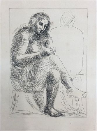 Radierung Picasso - Au bain