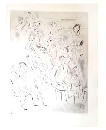 Lithographie Pascin - Au Bal
