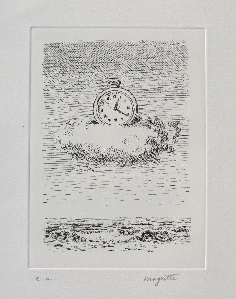 Radierung Magritte - Aube à l'Antipode