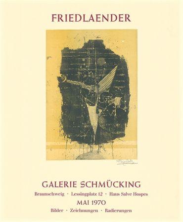 Radierung Und Aquatinta Friedlaender - Ausstellungsplakat Galerie Schmücking, Braunschweig, 1970
