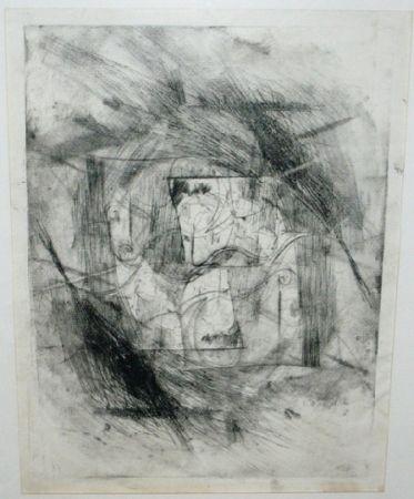 Kaltnadelradierung Szafran - Autoportrait
