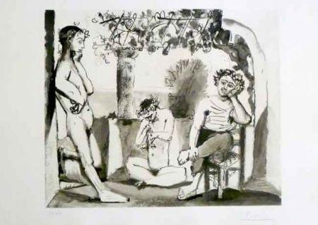 Radierung Und Aquatinta Picasso - Bacchanale