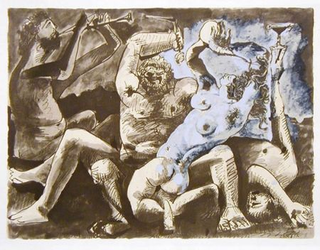 Lithographie Picasso - Bacchanale Ii