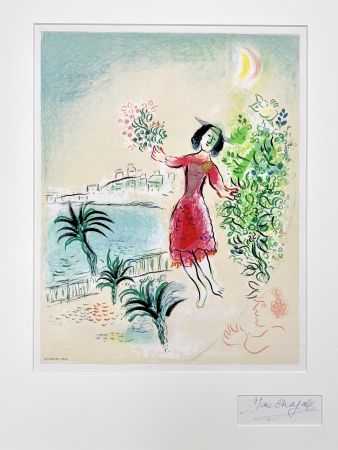 Lithographie Chagall - Baie des Anges