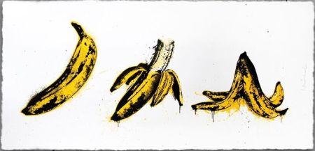 Siebdruck Mr. Brainwash - Banana Split (White)