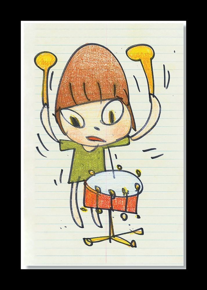 Lithographie Nara - Banging The Drum
