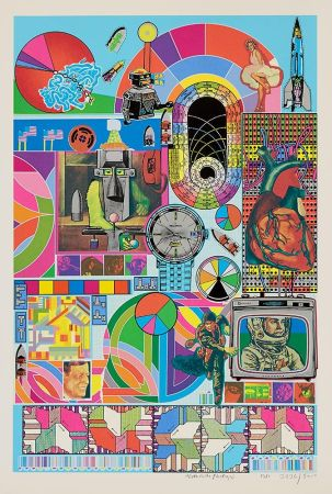 Siebdruck Paolozzi - BASH (blue)