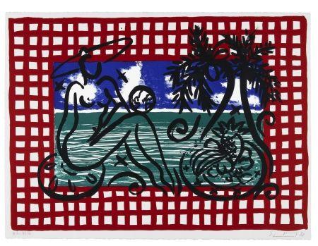 Lithographie Szczesny - Bathers on Mustique