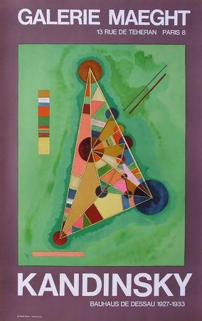 Plakat Kandinsky - BAUHAUS DE DESSAU. Affiche originale en lithographie (1965).