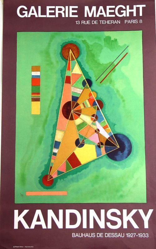 Lithographie Kandinsky - Bauhaus de Dessau  Galerie Maeght
