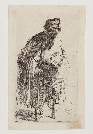Stich Rembrandt - Beggar with a wooden Leg