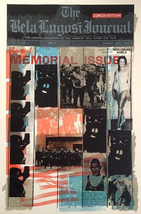 Siebdruck Tilson - Bela Lugosi Journal B