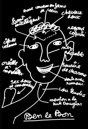 Siebdruck Vautier - '' Ben le Bon ''