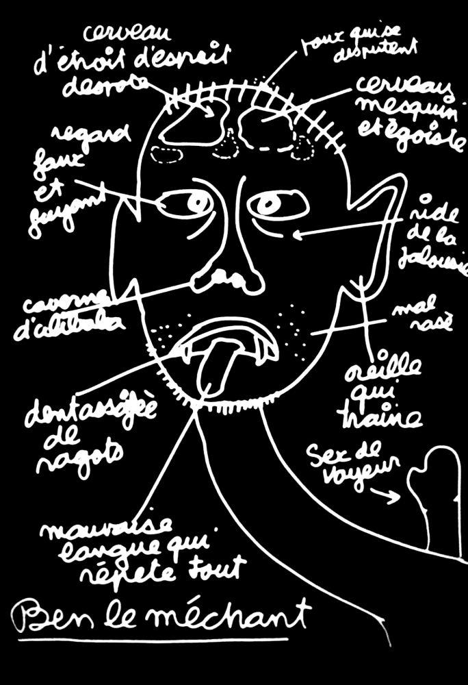 Siebdruck Vautier - '' Ben le Méchant ''