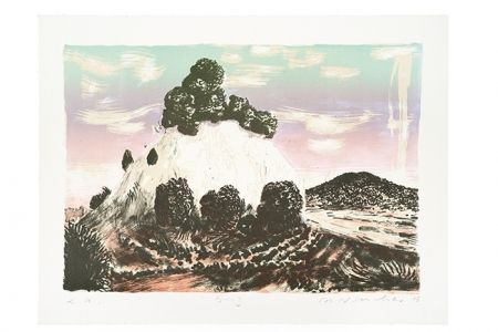Lithographie Weischer - Berg