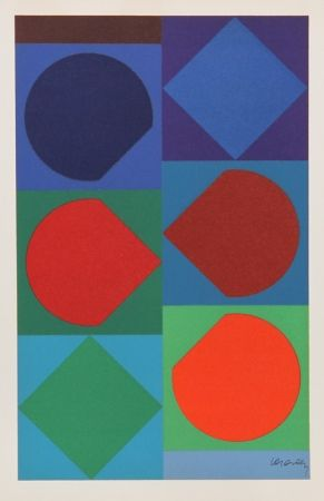 Lithographie Vasarely - Beryll from Souvenirs de Portraits d'Artistes