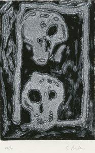 Linolschnitt Bertelli - Bestiario gotico
