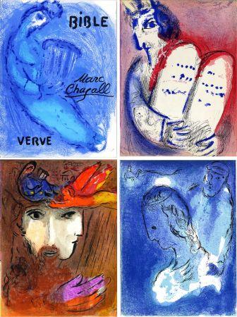 Illustriertes Buch Chagall - BIBLE. Verve vol. VIII. n°33 et 34. 16 LITHOGRAPHIES ORIGINALES (1956).