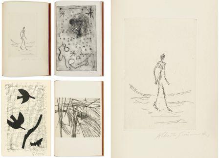 Illustriertes Buch Giacometti - Bibliographie des œuvres de René Char (PAB 1964) Gravures signées de Giacometti, Miro, Braque, Da Silva.