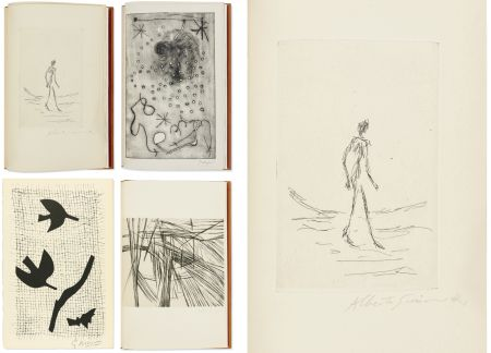 Illustriertes Buch Giacometti - Bibliographie des œuvres de René Char (PAB 1964) Gravures signées de Giacometti, Miro, Braque, Da Silva, etc.