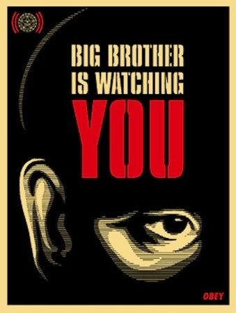 Siebdruck Fairey - Big Brother is Watching You