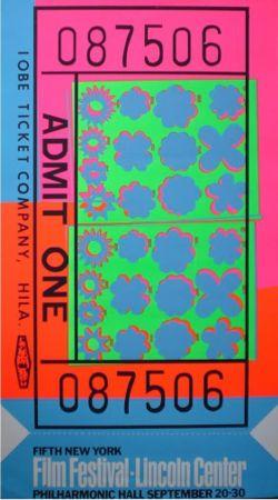 Siebdruck Warhol - Biglietto Lincoln Center (FS II.19)
