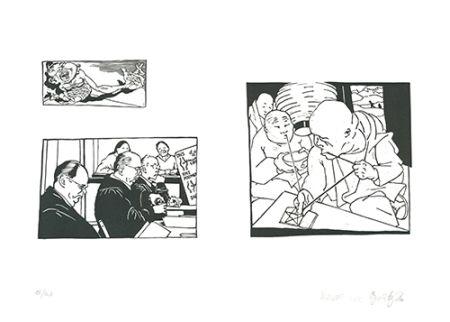 Linolschnitt Grützke - Bilder aus Bongs Stall