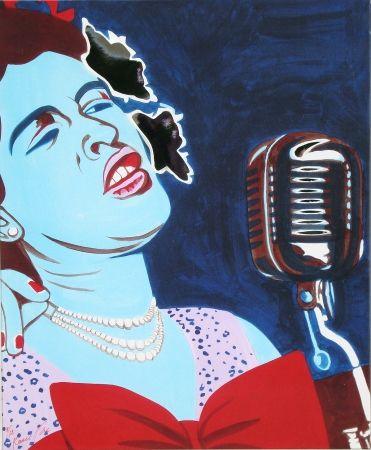 Siebdruck Rancillac - Billie Holiday