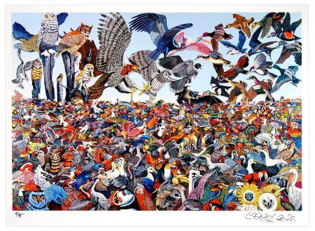 Digitale Druckgrafik Erro - Birdlandscape