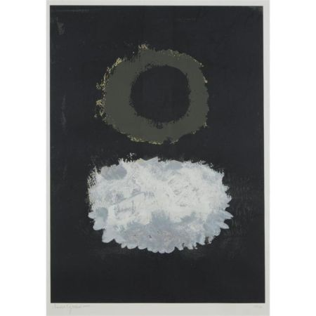 Siebdruck Gottlieb - Black Field