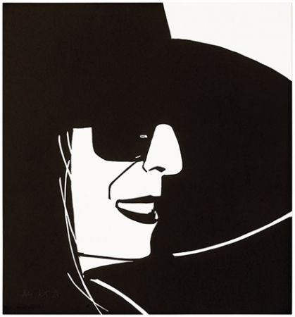 Holzschnitt Katz - Black Hat (Ada)