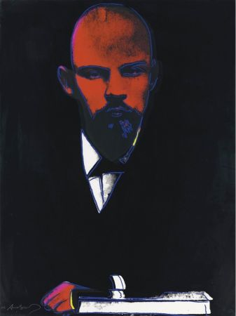 Siebdruck Warhol - Black Lenin (FS II.402)