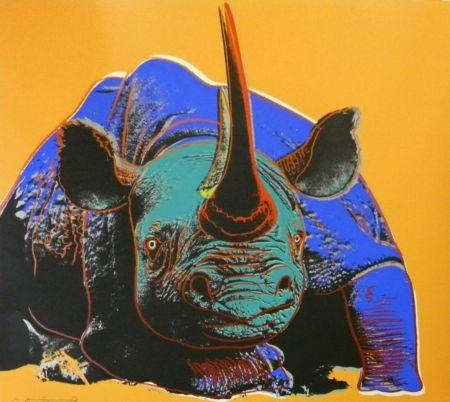 Siebdruck Warhol - Black Rhinoceros (FS II.301)